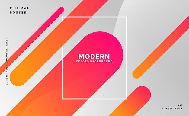 Grijze achtergrond met kleurrijke abstracte lijnen Gratis Vector