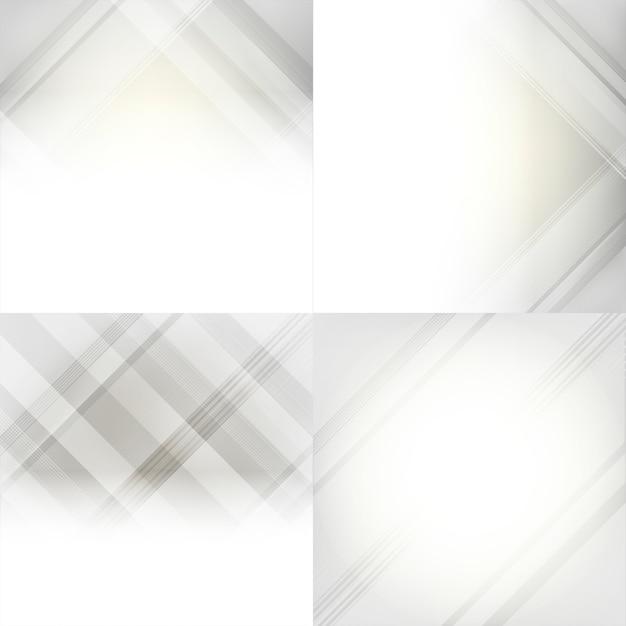 Grijze en witte gradiënt abstracte achtergrondreeks Gratis Vector