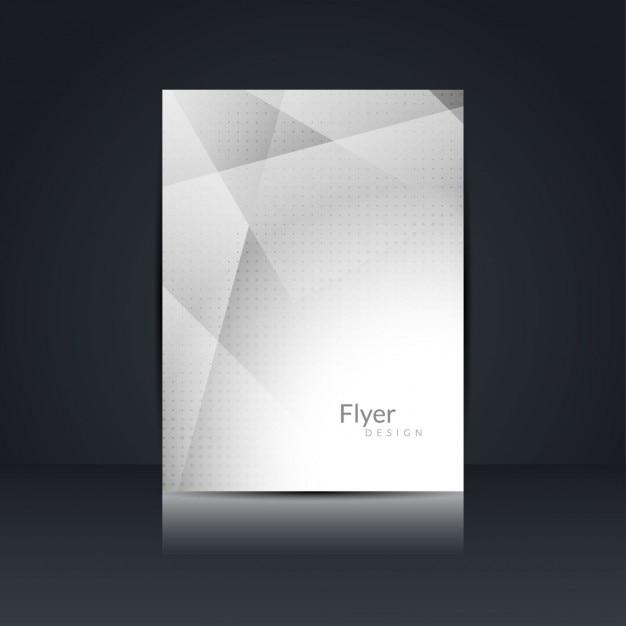 Grijze kleur flyer ontwerp Gratis Vector