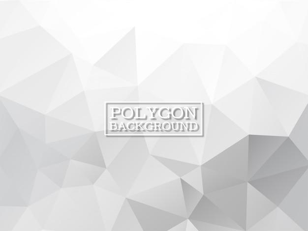 Grijze kleur geometrische veelhoek achtergrond Gratis Vector