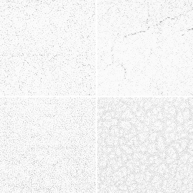 Grijze muur texturen set Premium Vector