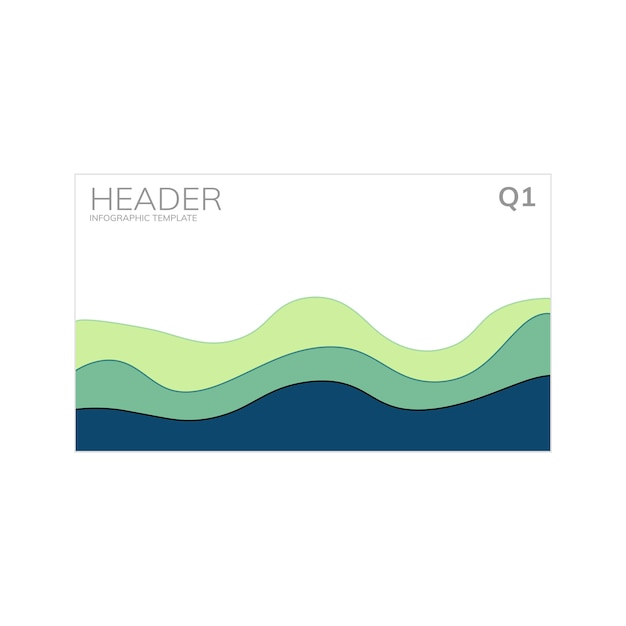 Groeisnelheid grafiek infograph vector Gratis Vector