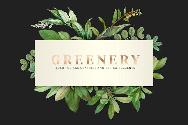 Groen behang Gratis Vector
