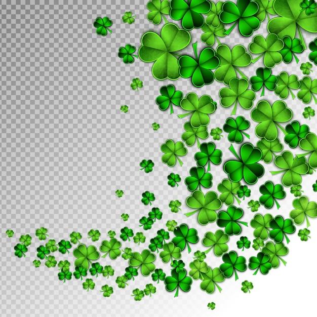 Groenboek gesneden saint patrick day Premium Vector