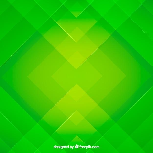 Groene abstracte achtergrond met platte ontwerp Gratis Vector