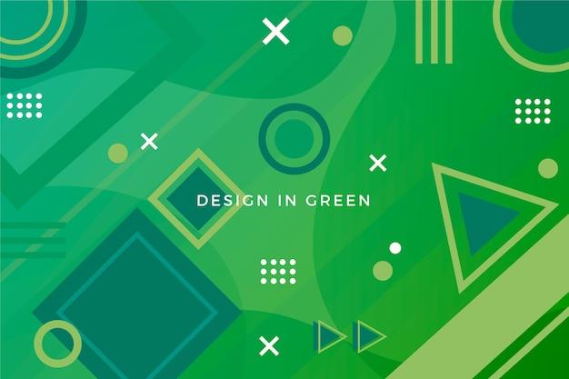 Groene abstracte geometrische polyachtergrond Gratis Vector