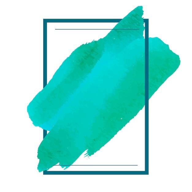 Groene aquarel banner ontwerp vector Gratis Vector