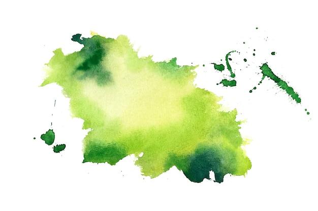 Groene aquarel splash vlek textuur achtergrond Gratis Vector