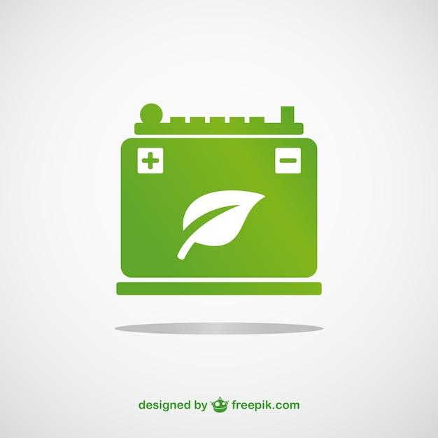 Groene batterij vector Gratis Vector