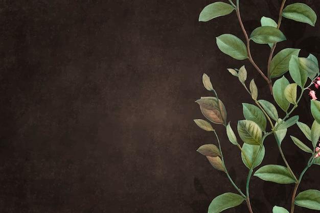 Groene bloemenachtergrond Gratis Vector