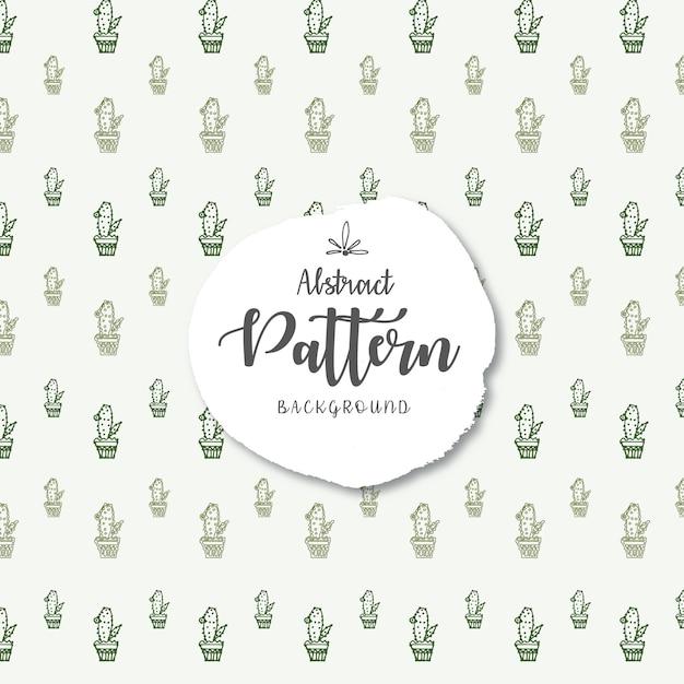 Groene cactus vector naadloze patroon achtergrond Gratis Vector