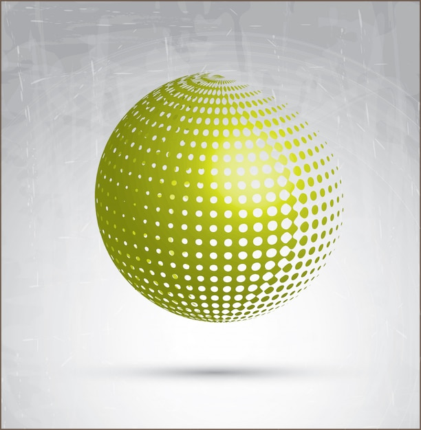 Groene cirkel Premium Vector