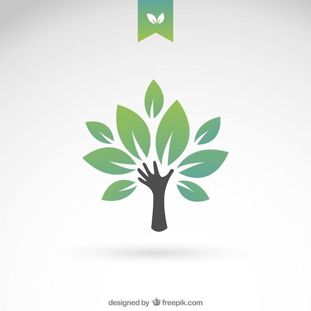 Groene eco boom Gratis Vector