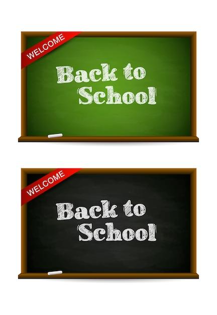 Groene en zwarte schoolborden vector Gratis Vector