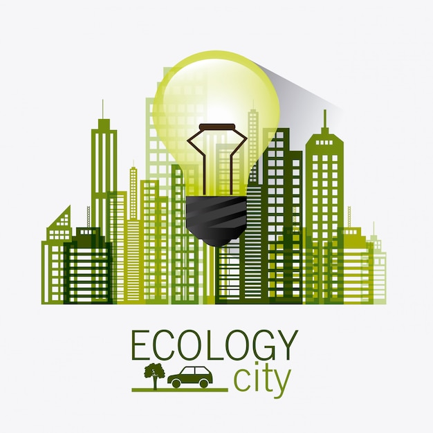 Groene energie en ecologie Gratis Vector