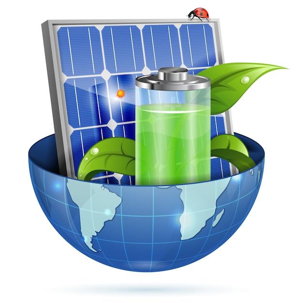Groene energie Premium Vector