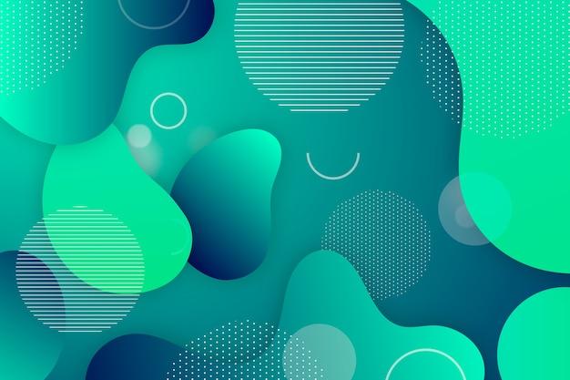 Groene gradiënt abstracte achtergrond Gratis Vector