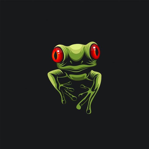 Groene kikker Premium Vector