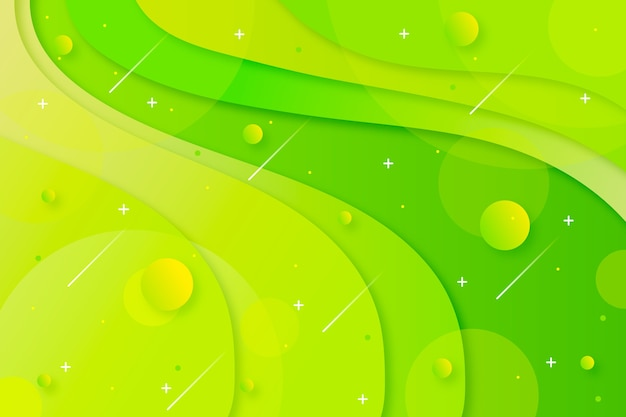 Groene tinten achtergrond met kleurovergang Gratis Vector