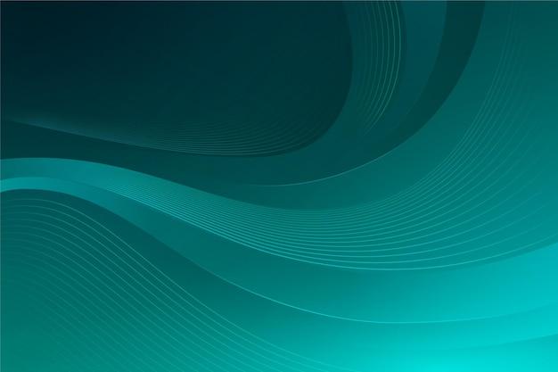 Groene tinten golvende achtergrond Gratis Vector