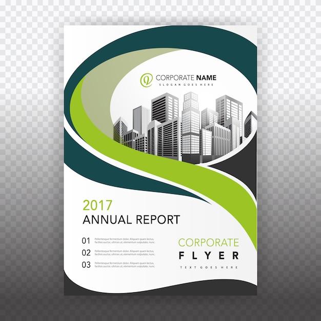 Groene zakelijke brochure Gratis Vector