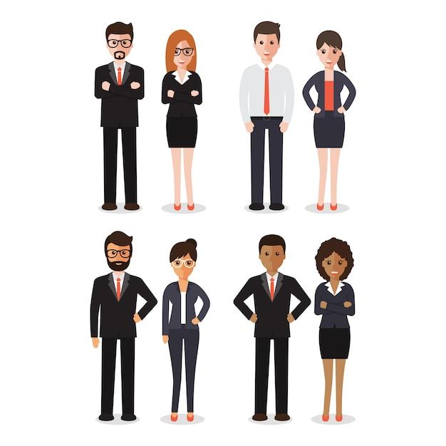 Groep werkende mensen Premium Vector
