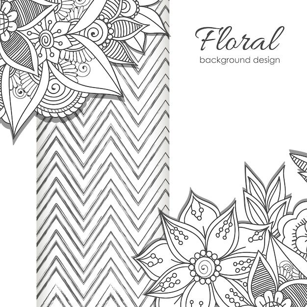 Groetkaart met bloemen, waterverf. vector frame Gratis Vector