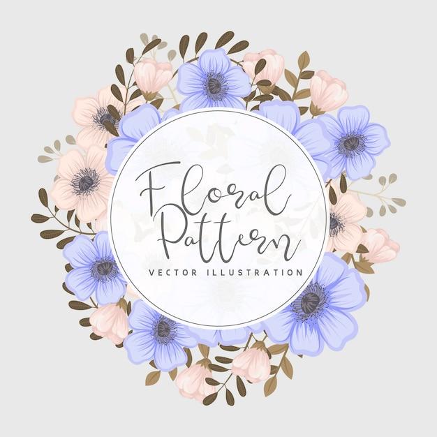 Groetkaart met bloemen, waterverf Gratis Vector