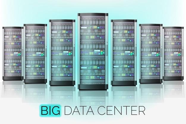 Groot datacenter Premium Vector