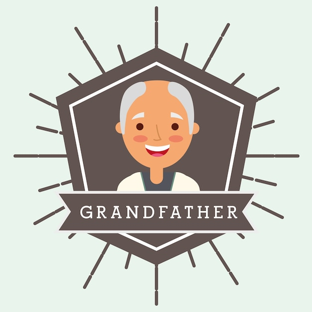 Grootouders dag mensen Premium Vector