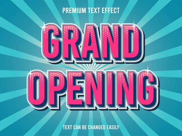 Grootse opening teksteffect Premium Vector