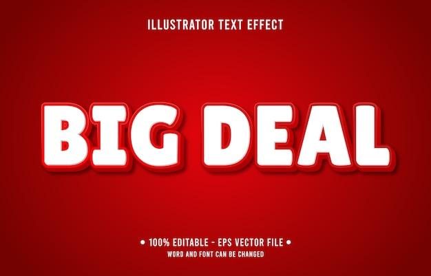 Grote bewerkbare teksteffect moderne online winkelstijl Premium Vector