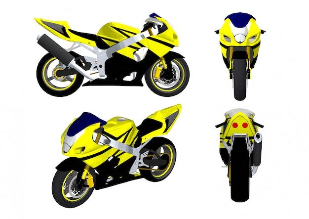 Grote fiets auto vector voor racers Premium Vector