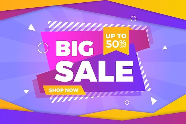 Grote verkoop abstracte kleurrijke achtergrond Gratis Vector