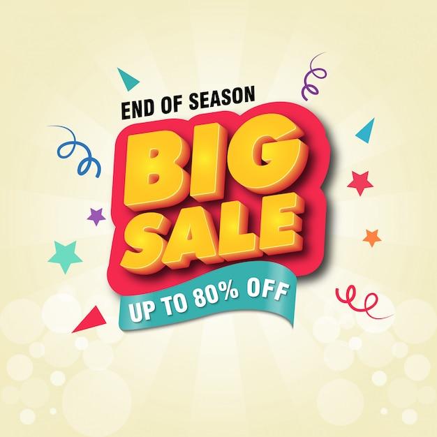 Grote verkoop banner ontwerpsjabloon Premium Vector