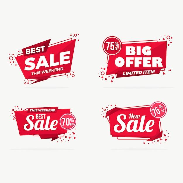 Grote verkoop labels tags collectie Premium Vector