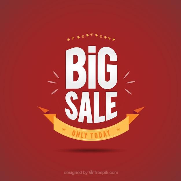 Grote verkoop poster Gratis Vector