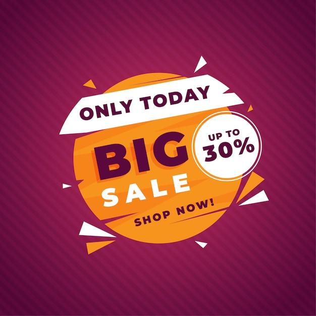 Grote verkoop promotie sjabloon banner Premium Vector