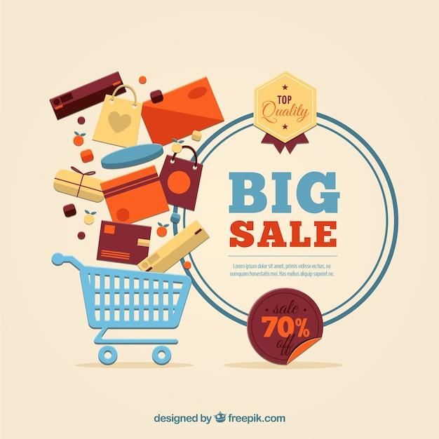 Grote verkoop template Gratis Vector
