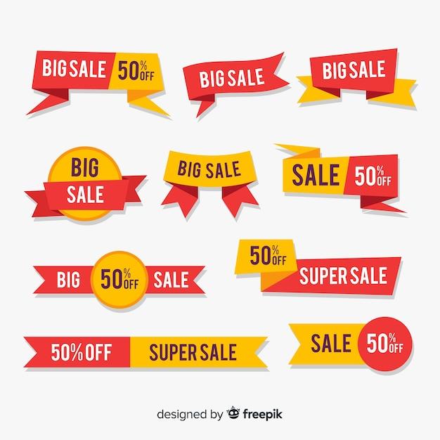 Grote verzameling verkoopelementen Gratis Vector