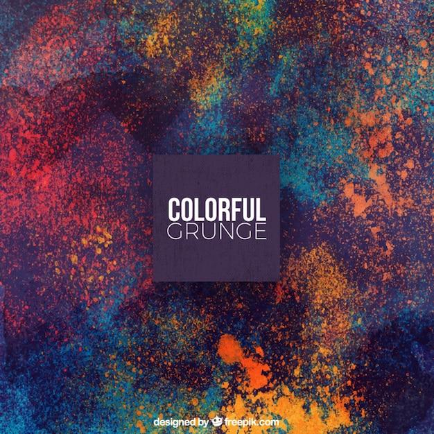 Grunge achtergrond van kleurrijke vlekken Gratis Vector