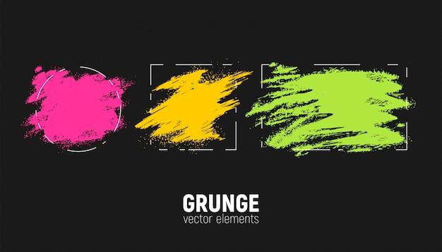 Grunge achtergronden instellen Premium Vector