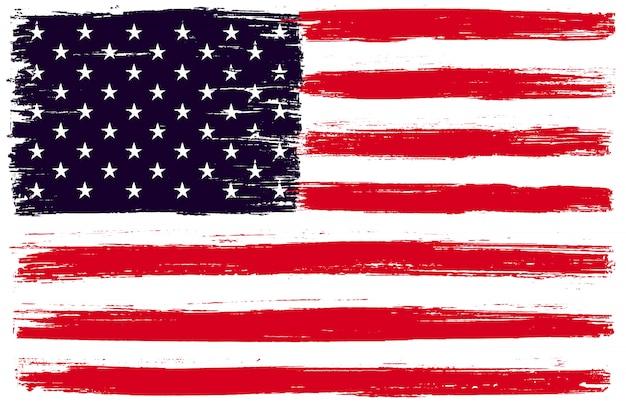 Grunge amerikaanse vlag Premium Vector