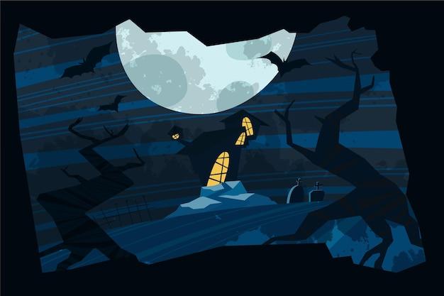 Grunge halloween achtergrond Gratis Vector