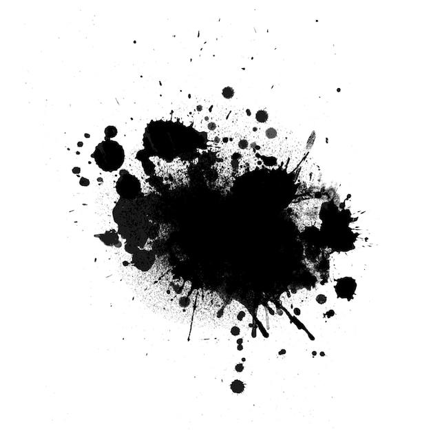 Grunge inkt splat achtergrond Gratis Vector