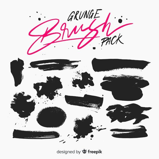 Grunge penseelpakket Gratis Vector