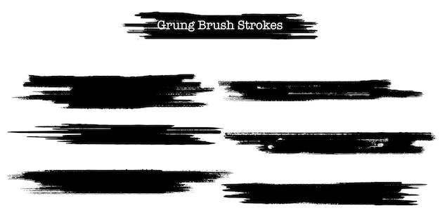 Grunge penseelstreken collectie Gratis Vector
