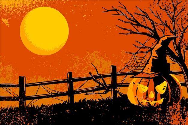 Grunge stijl halloween achtergrond Gratis Vector