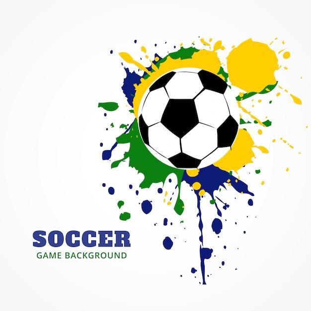 Grunge stijl voetbal Premium Vector