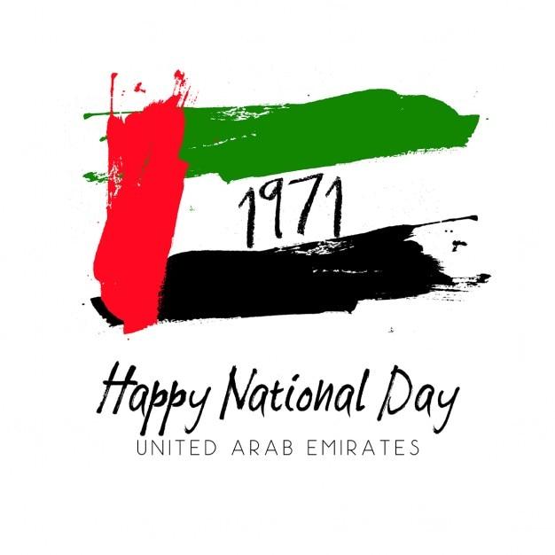 Grunge stijl voor de verenigde arabische emiraten nationale dag Gratis Vector